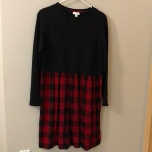 J Jill cotton and flannel dress NWOT.
